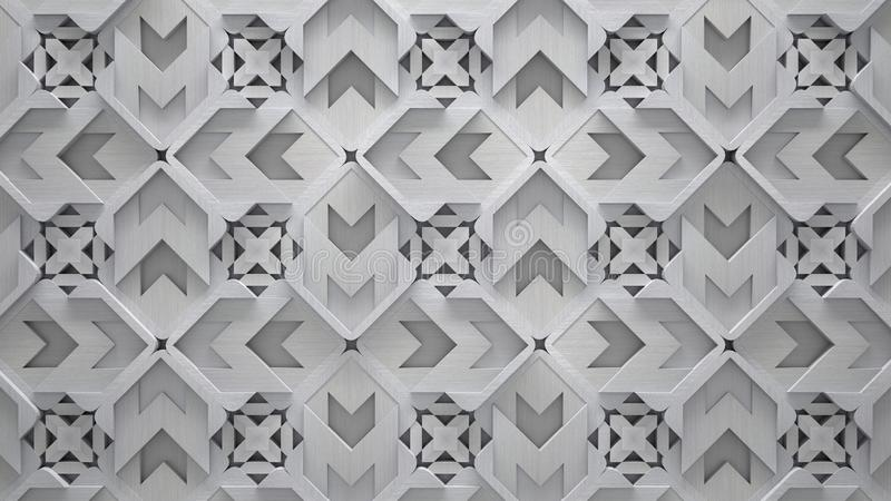 Creative Patterned Metal Background stock illustration