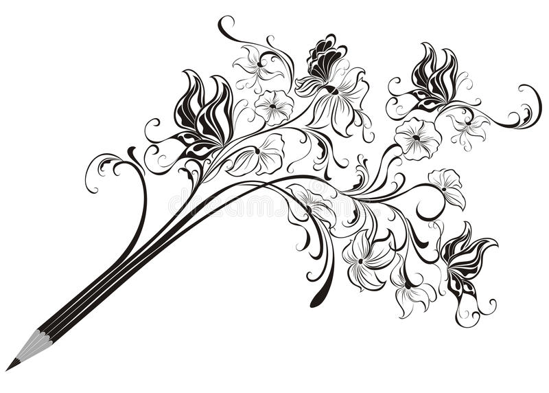 Creative pencil royalty free illustration