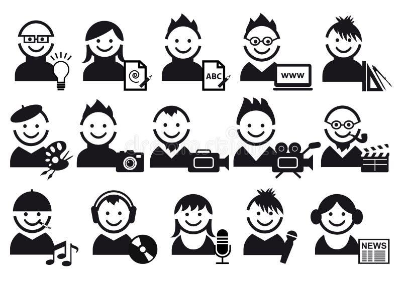 Creative people icons stock illustration