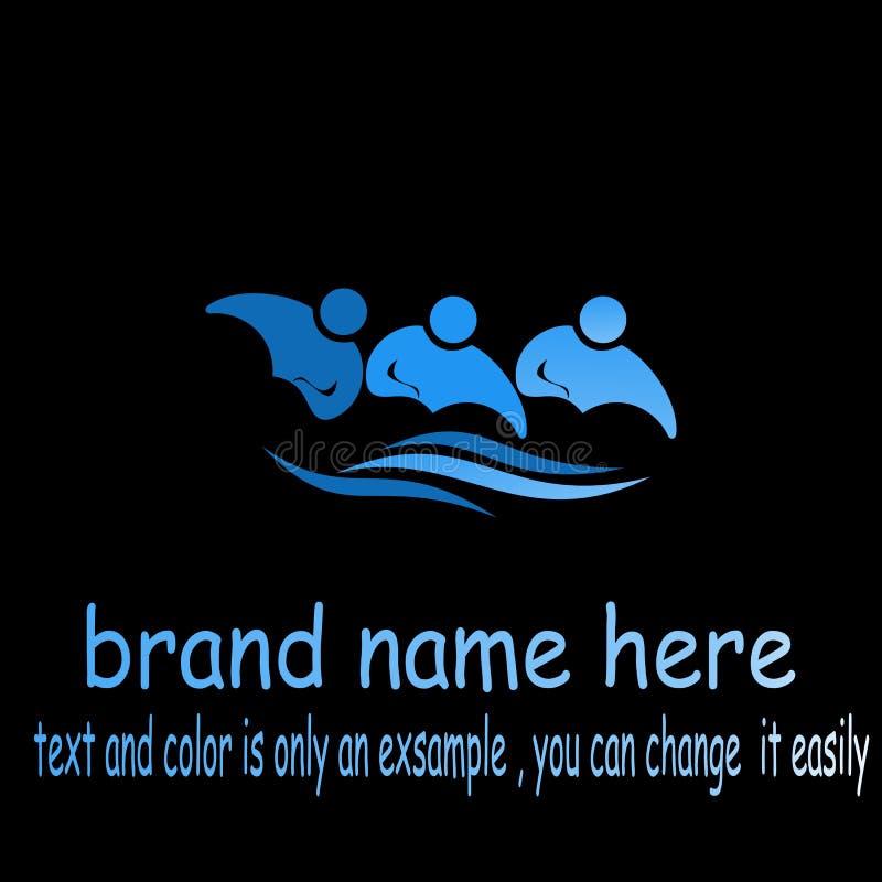 Creative people wave logo royalty free illustration