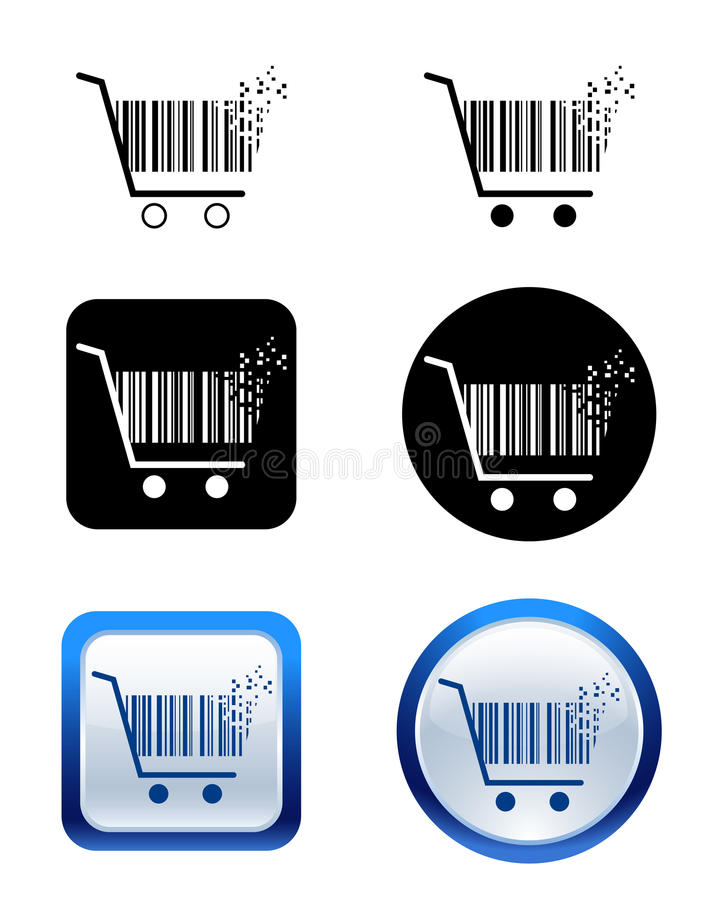 Download Creative Pixel Shopping Cart Icon Stock Vector - Image: 18928010