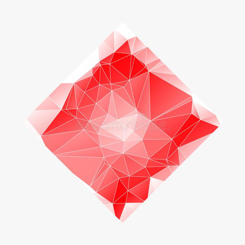 Creative Poligonal Triangle White Red Background with copyspace on it. Low Poly Design. Light Copy Space Color Pattern. eps10. Creative Poligonal Triangle White royalty free illustration
