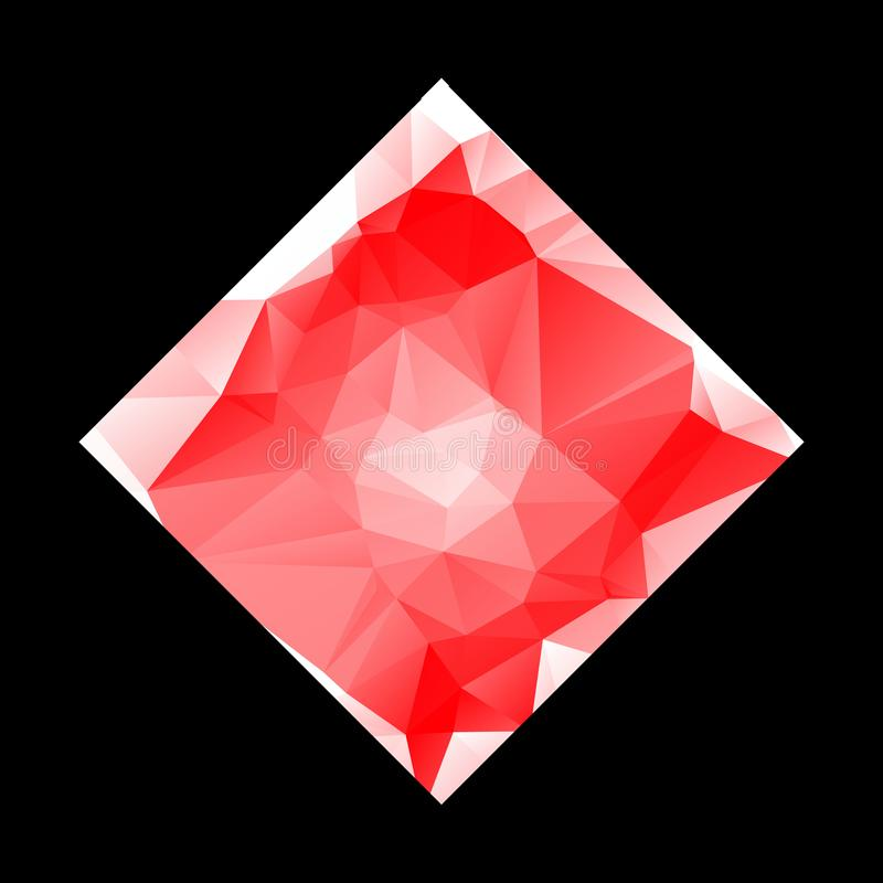 Creative Poligonal Triangle White Red Background with copyspace on it. Low Poly Design. Light Copy Space Color Pattern. eps10. Creative Poligonal Triangle White vector illustration