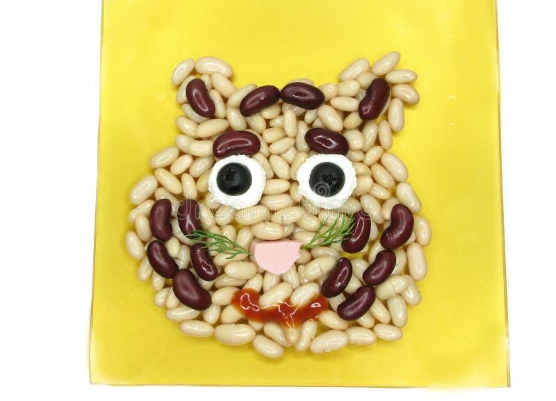 Download Creative Porridge Lion Face Shape Stock Photo - Image: 18293946