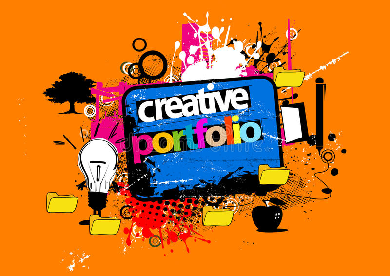 Creative portfolio. Abstract color design to place text. adobe illustrator file is available vector illustration