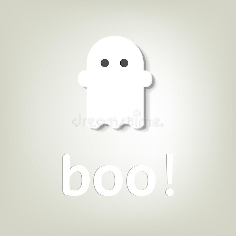 Creative poster for Halloween. little ghost royalty free stock images