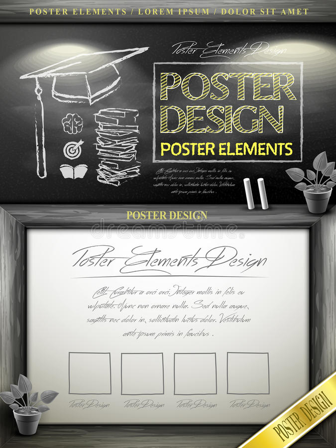 Creative Poster Template Design Stock Vector - Illustration of ...