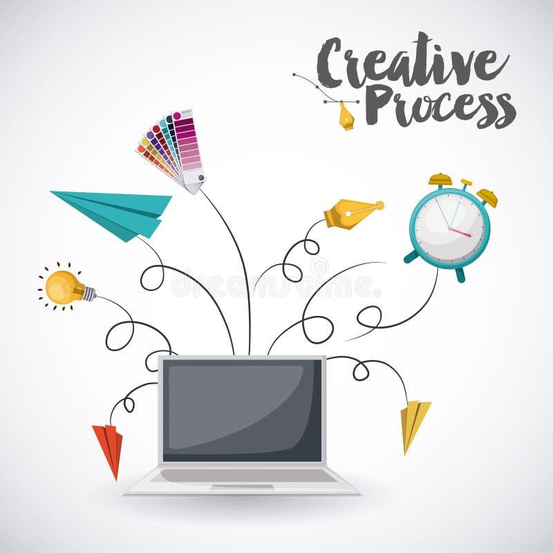 Creative process design. Vector illustration eps10 graphic stock illustration
