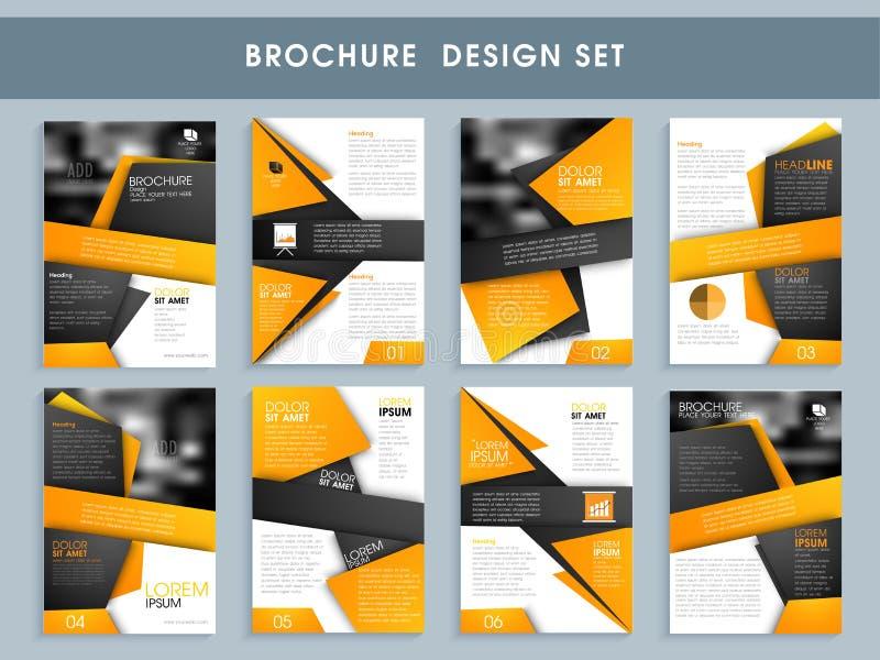 Creative Professional Brochure Design Set Stock Photo Image Of