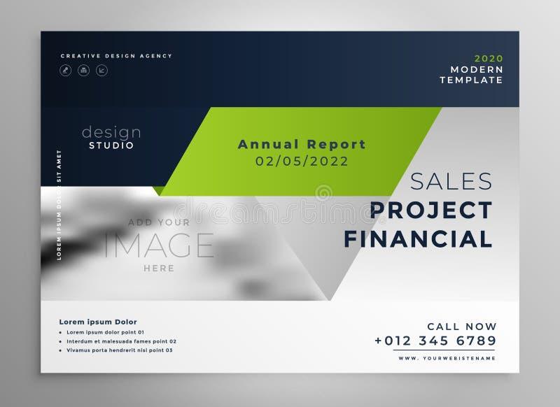 Creative professional green business brochure template stock illustration