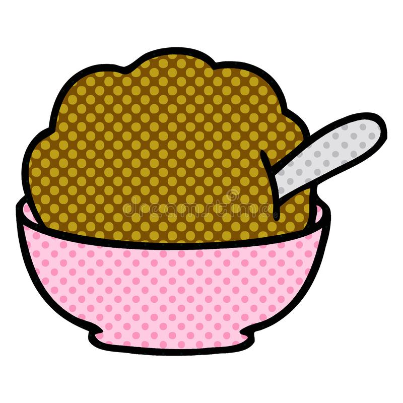 A creative quirky comic book style cartoon chocolate ice cream. An original creative quirky comic book style cartoon chocolate ice cream royalty free illustration