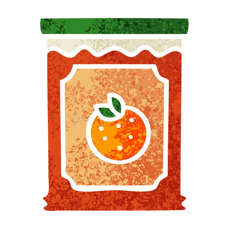 A creative quirky retro illustration style cartoon jar of marmalade. An original creative quirky retro illustration style cartoon jar of marmalade vector illustration