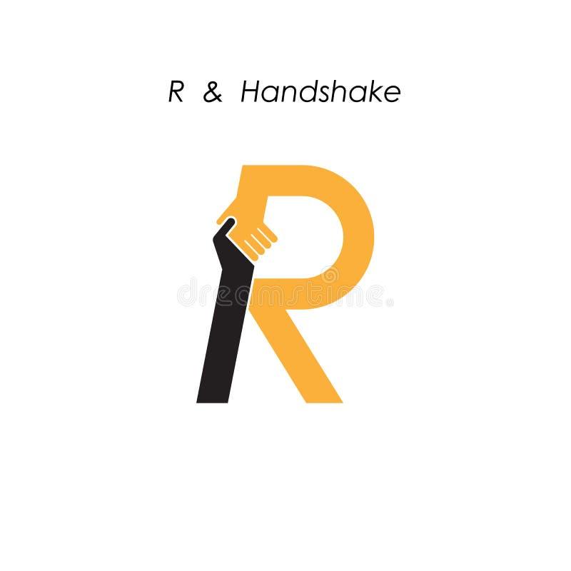 creative r letter icon abstract logo design vector template bus