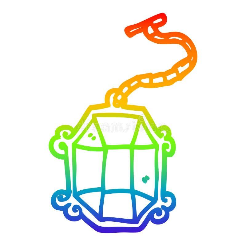 A creative rainbow gradient line drawing cartoon big jewelery. An original creative rainbow gradient line drawing cartoon big jewelery vector illustration