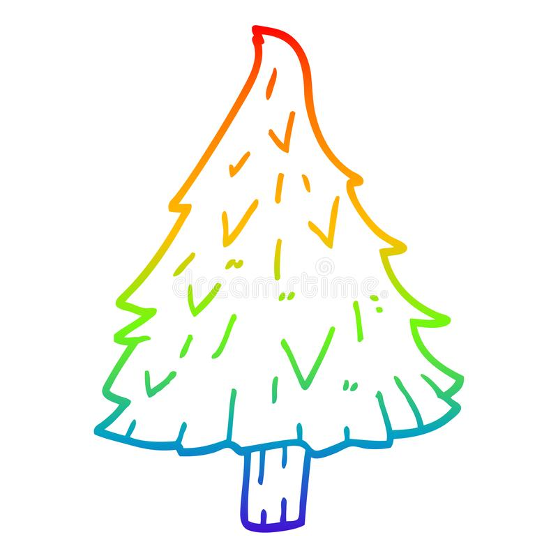 A Creative Rainbow Gradient Line Drawing Cartoon Christmas Tree Stock Vector Illustration Of Crazy Simple 153123071 Make charming christmas video greetings and congratulate your dear this year ones with a unique christmas video made with renderforest video maker. dreamstime com