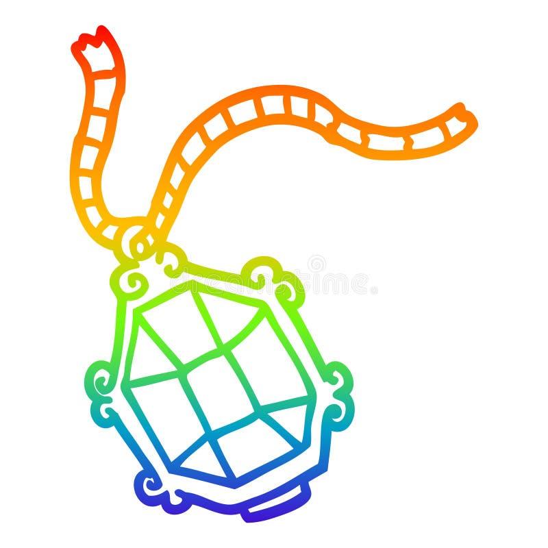 A creative rainbow gradient line drawing cartoon expensive jewelery. An original creative rainbow gradient line drawing cartoon expensive jewelery royalty free illustration