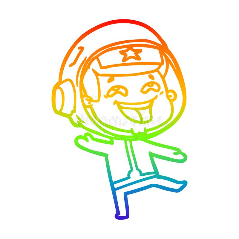 A creative rainbow gradient line drawing cartoon illustration royalty free illustration