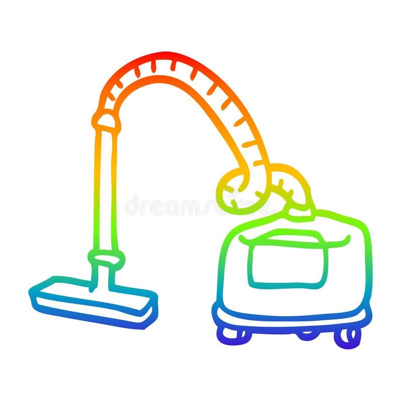 A creative rainbow gradient line drawing cartoon vacuum hoover. An original creative rainbow gradient line drawing cartoon vacuum hoover royalty free illustration