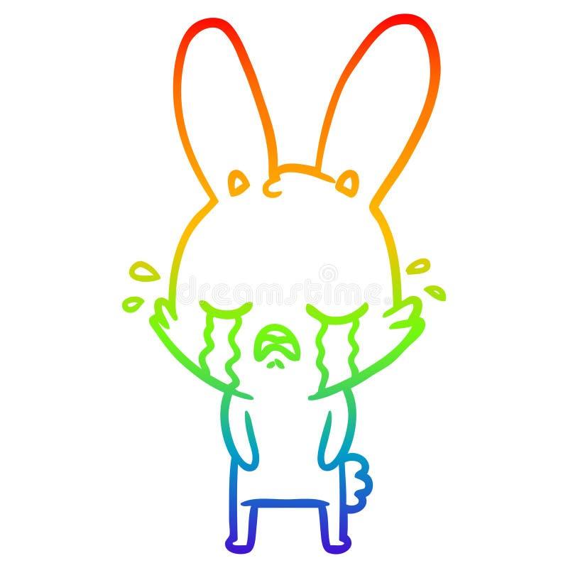 Rabbit Bunny Kawaii Animals Cute Cartoon Rainbow Line Gradient