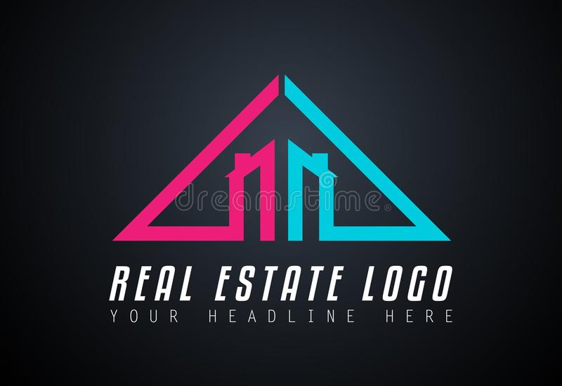 Creative Real Estate Logo design for brand identity, company pro. File or corporate logos with clean elegant and modern style royalty free illustration