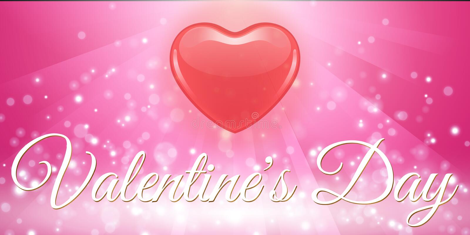Creative red heart banner valentine day royalty free stock photos