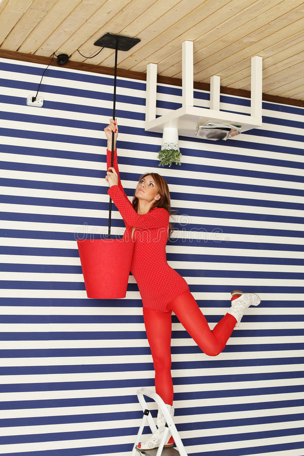Download Creative renovation stock image. Image of agility, female - 26909131