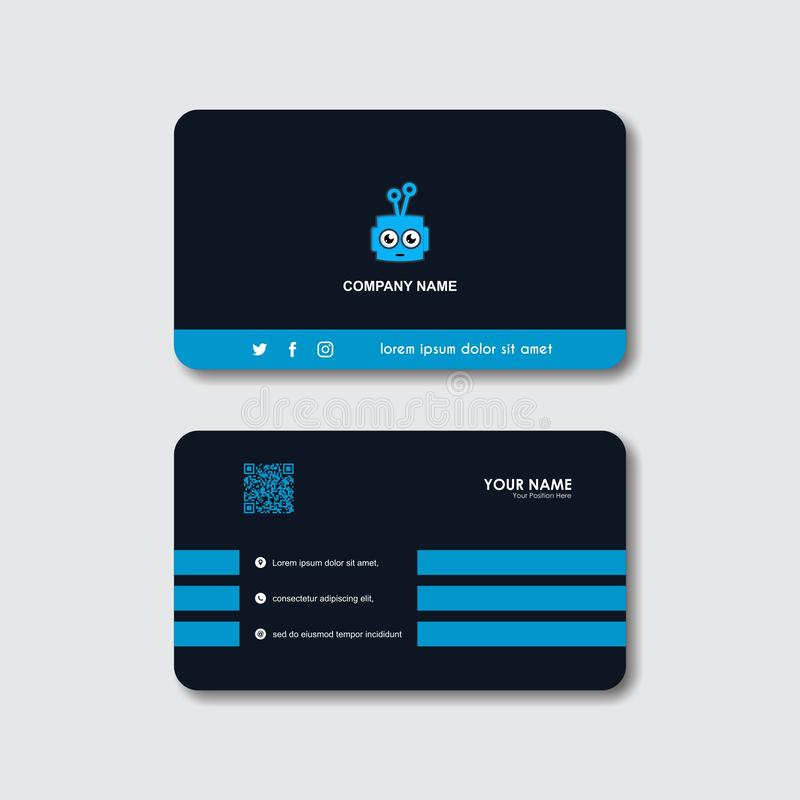 Creative Robot logo and business card vector template vector illustration