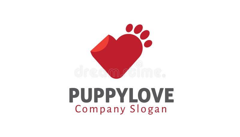 Puppy Pets Love Logo Symbol Design Illustration. Creative Puppy Pets Love Logo Symbol Design Illustration stock illustration