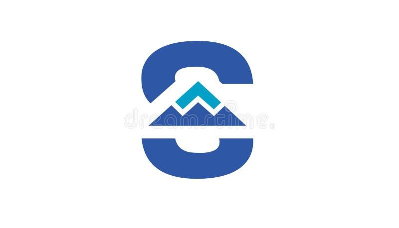 Summit S Letter Mountain Logo Design Illustration vector illustration