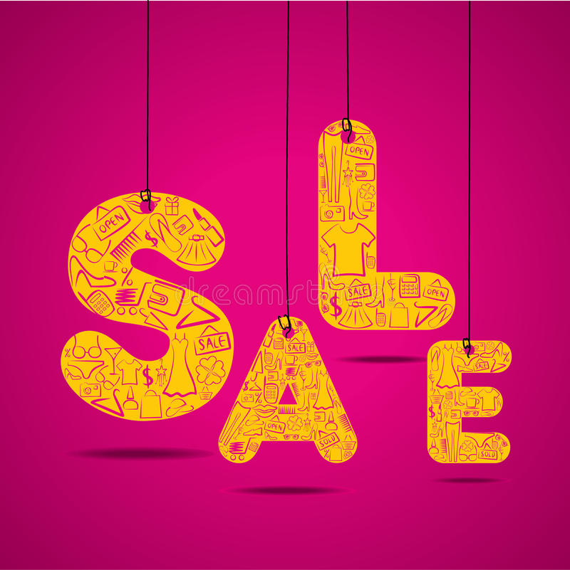 Creative sale background design concept stock illustration