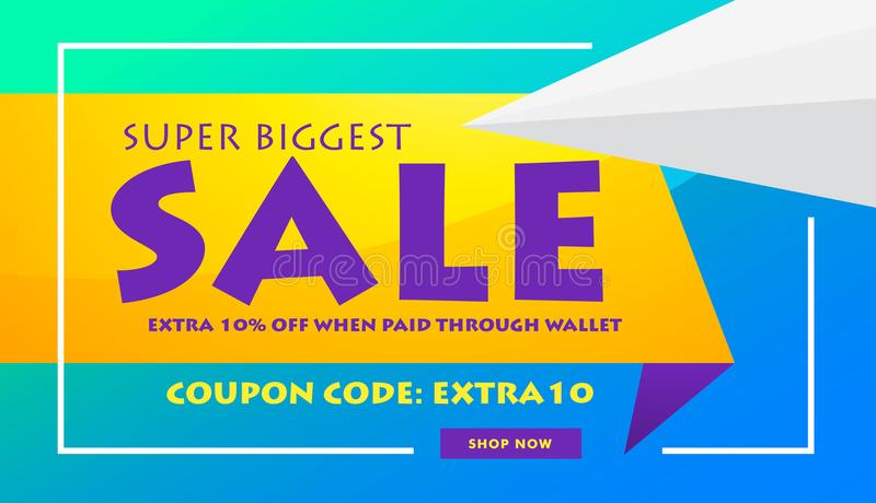 creative sale discount banner poster design template for advertising and marketing stock illustration