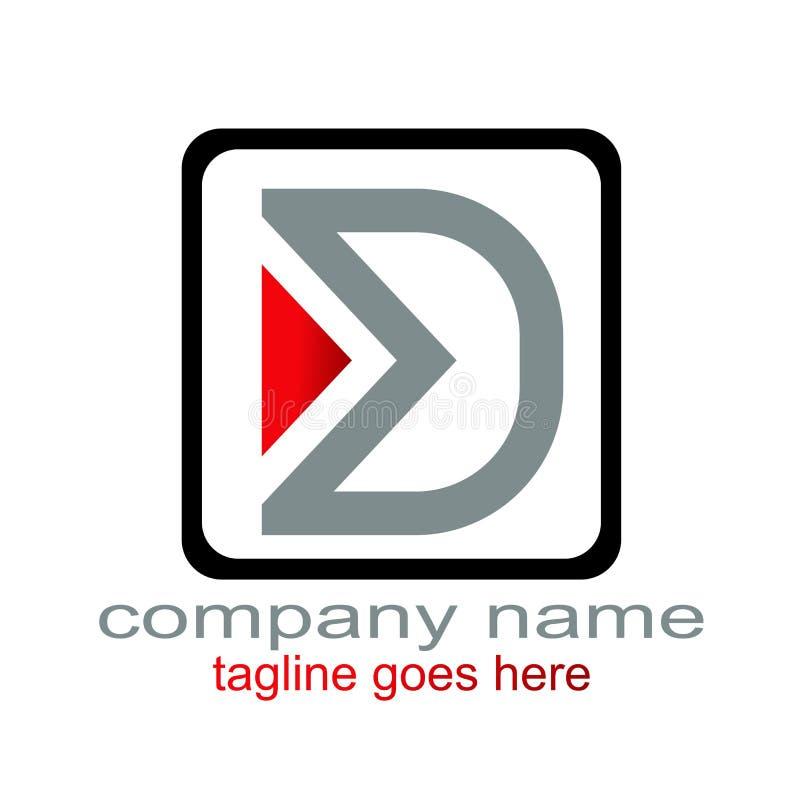 Creative design lette d logo graphic resourced stock illustration