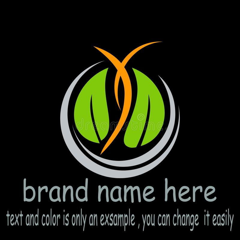 Creative design nature logo graphic resource. Creative sample nature logo vector stock illustration