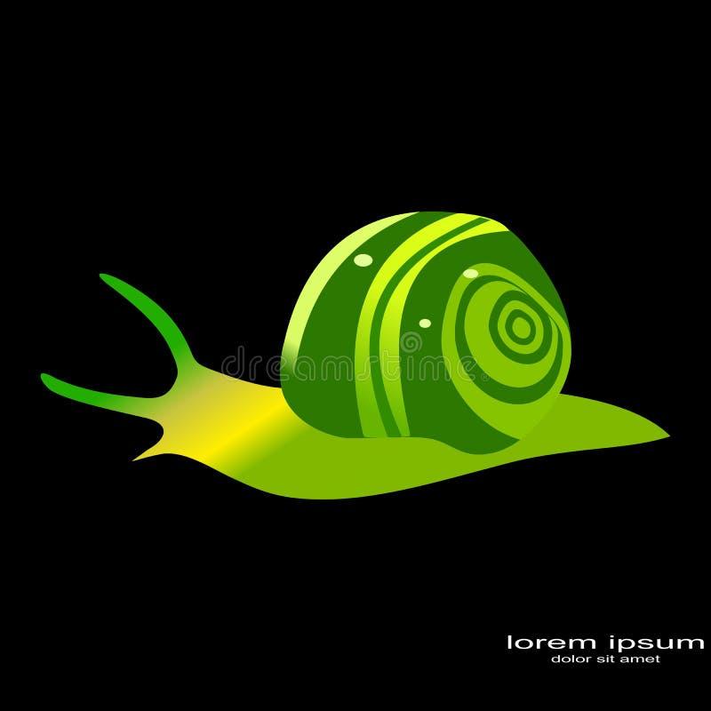 Creative sample design snails logo. Creative sample snails logo animals vector illustration