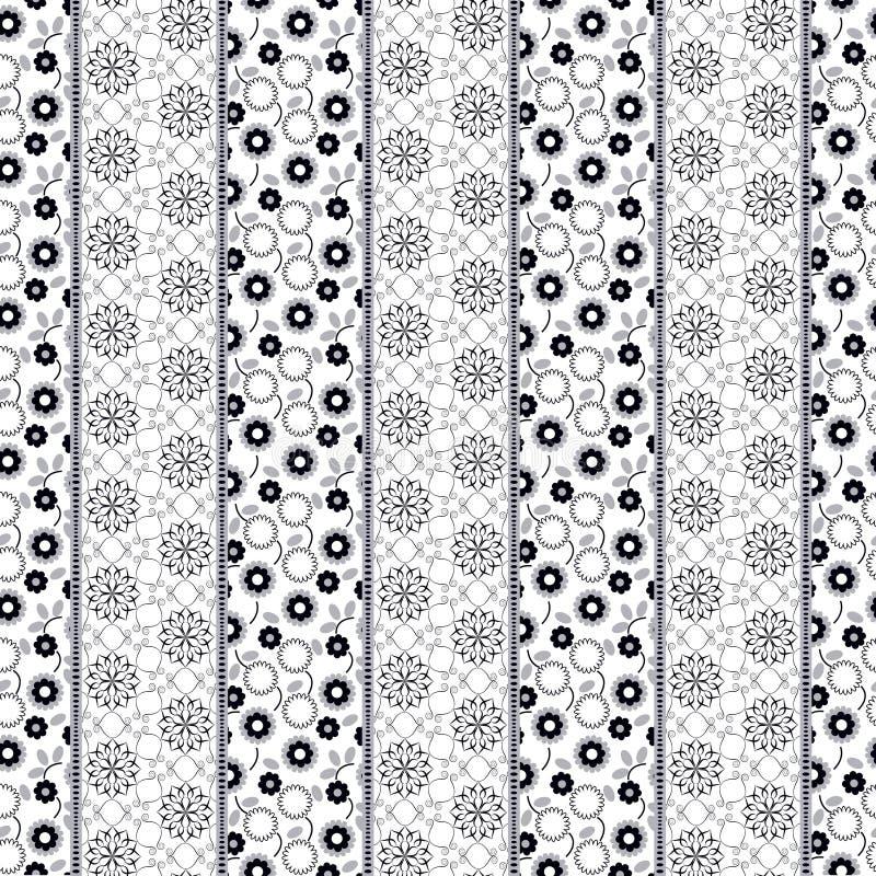 Creative seamless patchwork pattern vector illustration