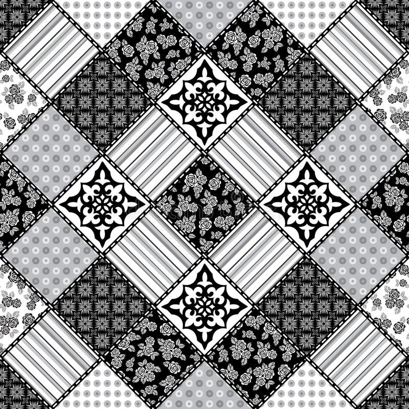 Creative seamless patchwork pattern royalty free illustration
