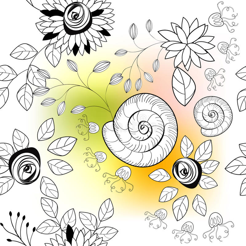 Creative Seamless Pattern Stock Images