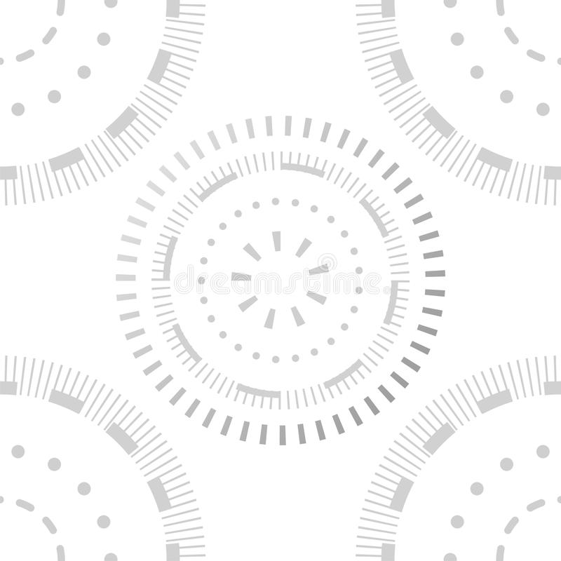 Creative seamless pattern design. Modern stylish structure, template graphic background. Trendy circles and dots. Ornament. Decorative geometric vector stock illustration
