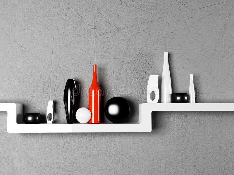 Creative Shelf creative shelf with the vases stock illustration - image: 41439637