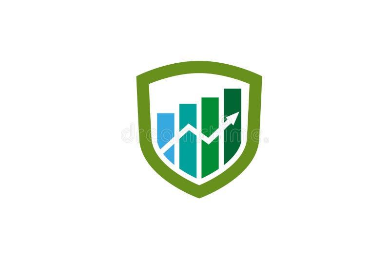 Creative Shield Statistic Chart Arrow Logo Design Vector Symbol Illustration. Creative Shield Statistic Chart Arrow Logo Design Vector Symbol vector illustration