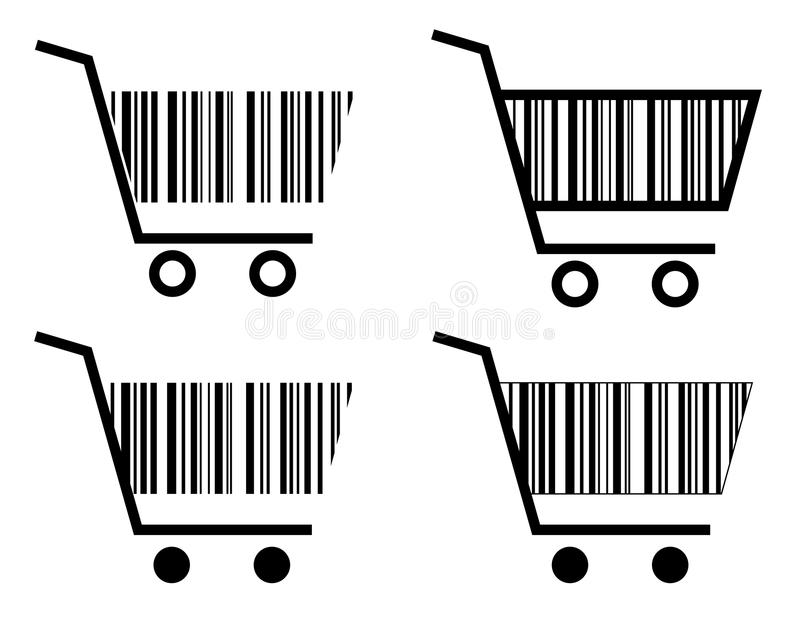 Creative shopping cart icon. High quality creative shopping cart icon.(This image is a illustration and can be scaled to any size without loss of resolution in royalty free illustration