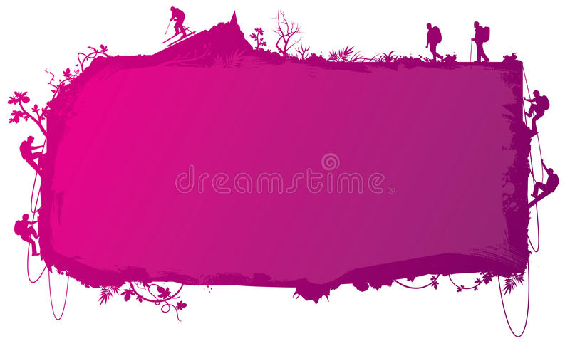 Creative signboard background. Countryside theme creative signboard background vector illustration