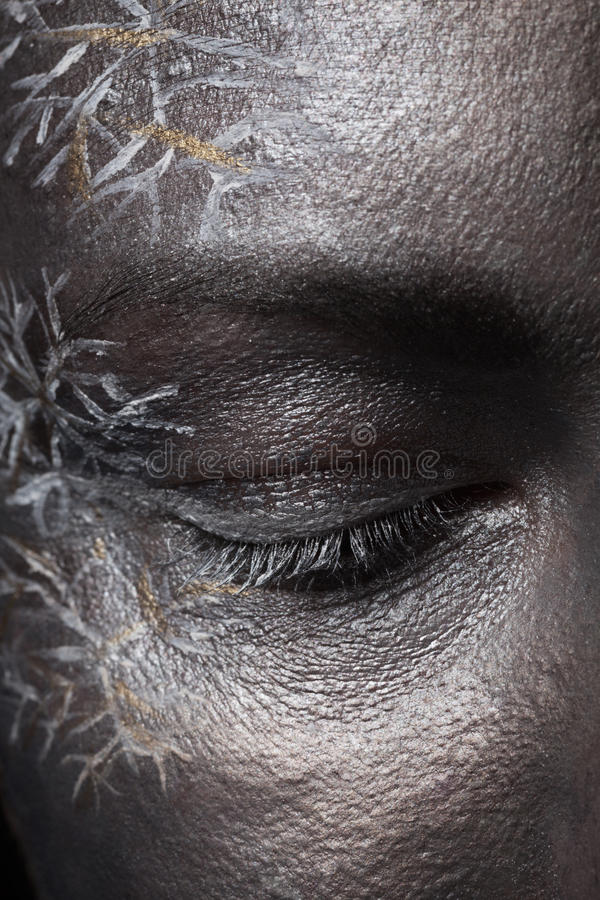 Download Creative Silver Make-up Stock Photo - Image: 63689989