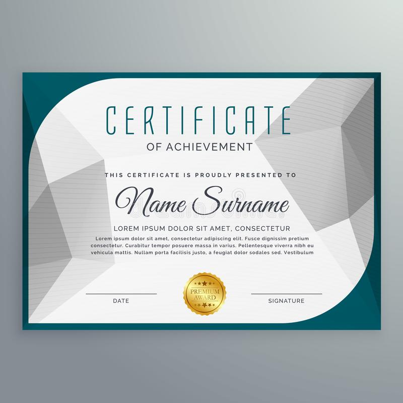 Creative simple certificate design template with abstract shape. Vector vector illustration