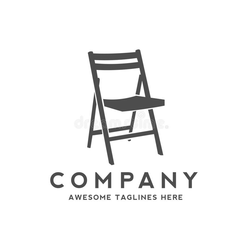 Chair furniture logo. Creative simple chair furniture logo design concept royalty free illustration
