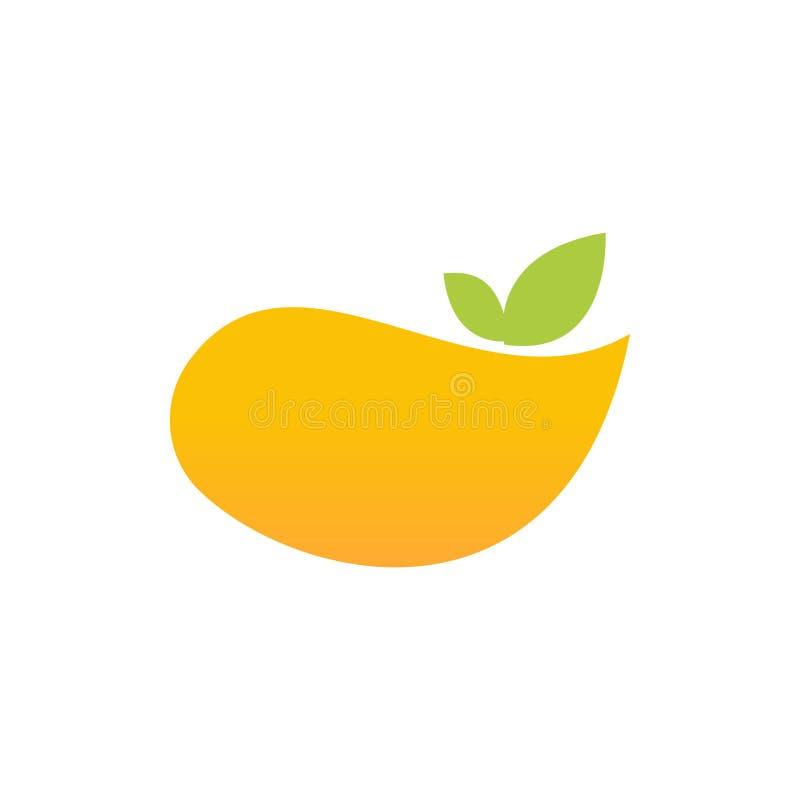 Creative mango fruit illustration logo design royalty free illustration