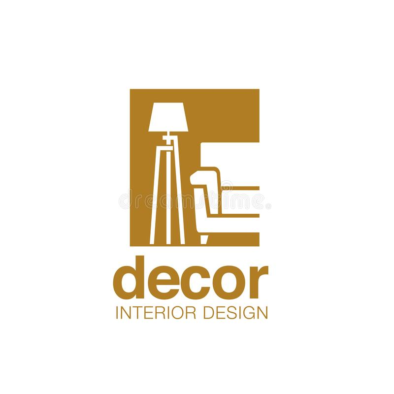 Sofa And Lamp For Furniture Logo Stock Vector Illustration Of Interior Home 154842796