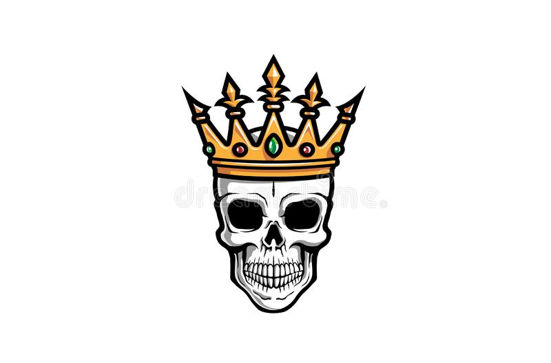 Creative Skull Crown Logo Design Illustration. Creative Skull Crown Logo Symbol Vector Design royalty free stock photography