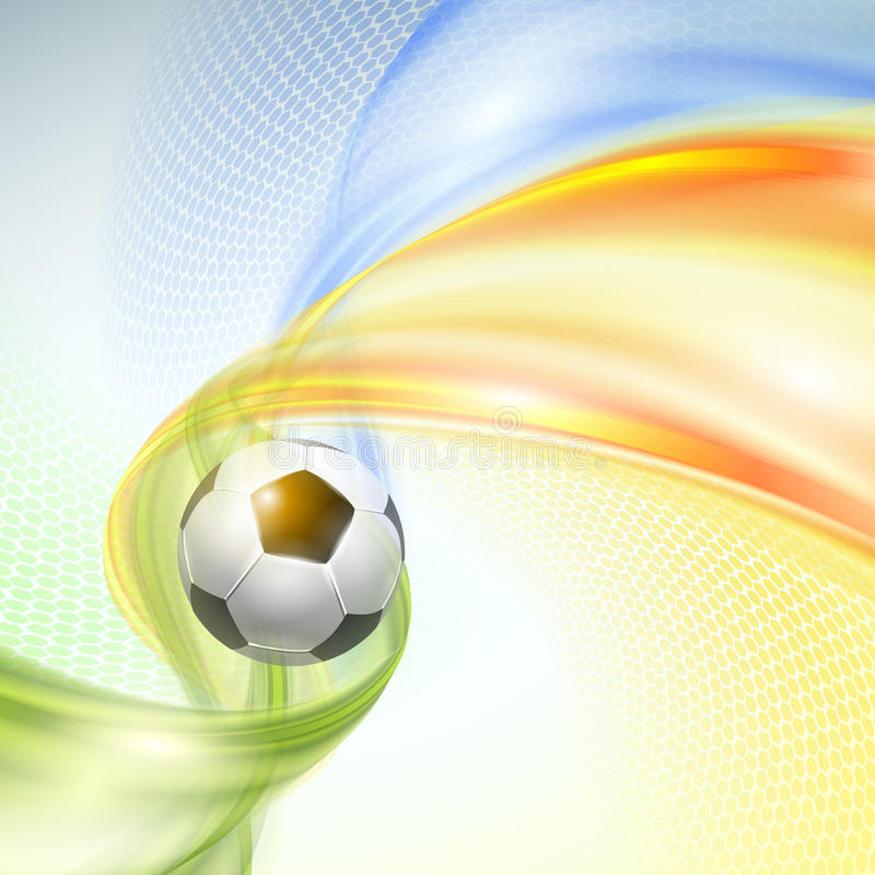 Creative Soccer Vector Design. With ball royalty free illustration