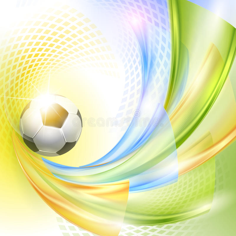 Creative Soccer Vector Design. With ball vector illustration